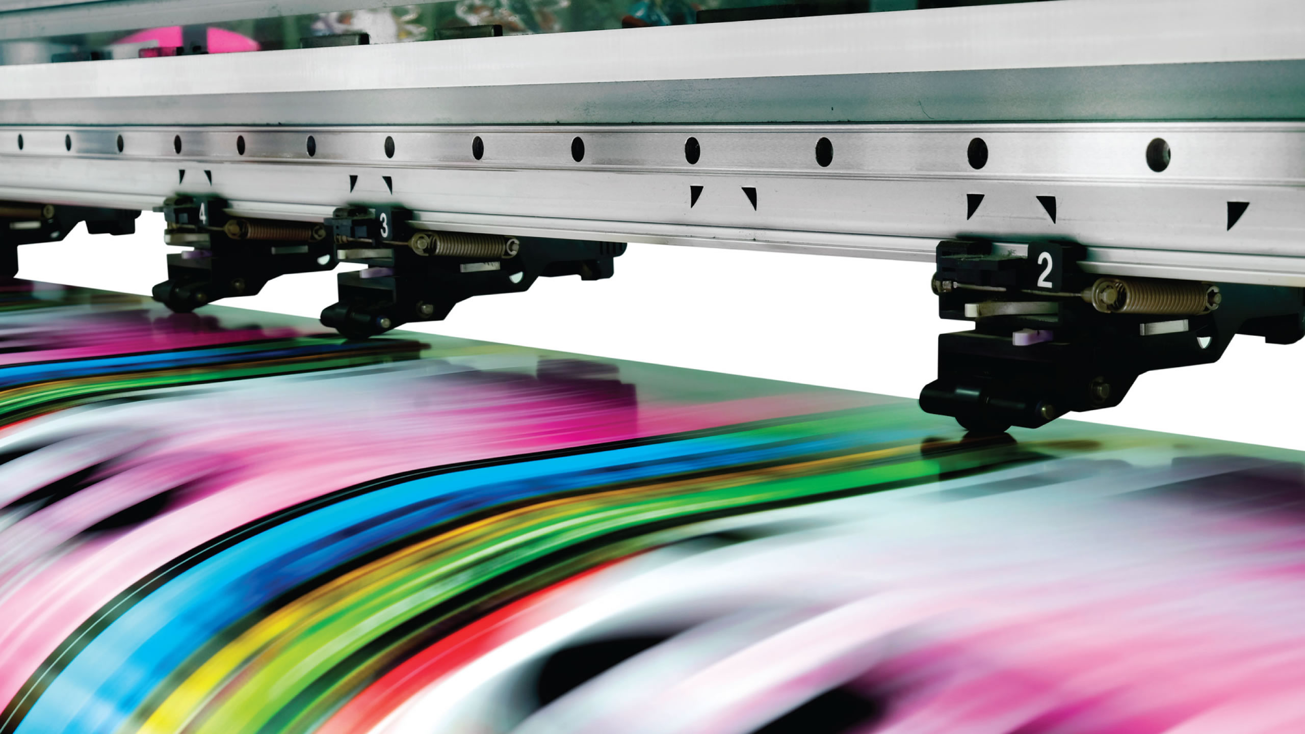 Printing in action of multiple color document. 23 years of High qualiy copy, printing, and ligitation document services including: copying, binding, printing, scanning, electronic bate stamping, and more